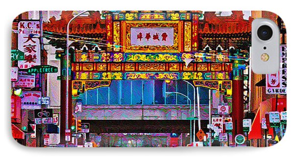 Chinatown Arch Philadelphia Phone Case by Bill Cannon