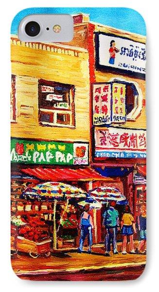 Chinatown Markets Phone Case by Carole Spandau