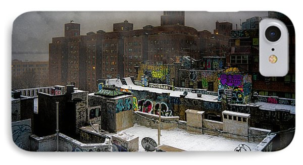 IPhone Case featuring the photograph Chinatown Rooftops In Winter by Chris Lord