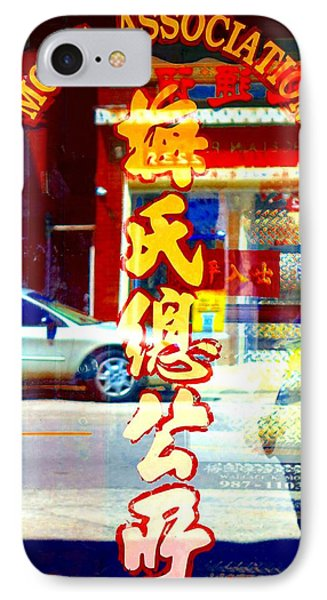 Chinatown Window Reflection 1 Phone Case by Marianne Dow