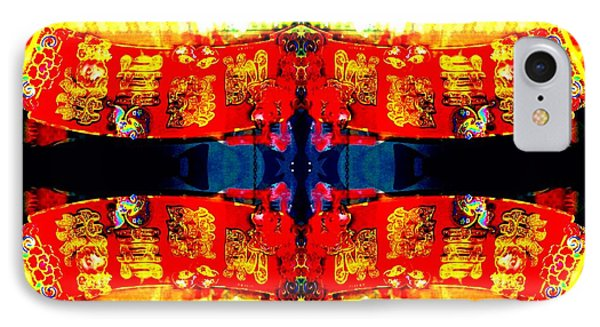 IPhone Case featuring the photograph Chinatown Window Reflection 5 by Marianne Dow