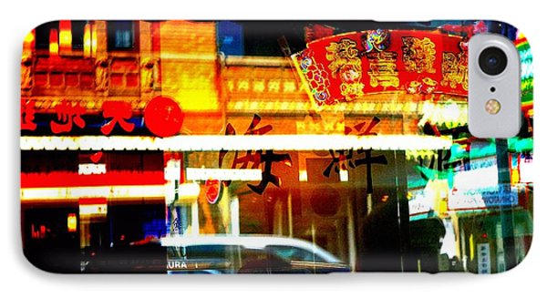 Chinatown Window Reflections 2 Phone Case by Marianne Dow