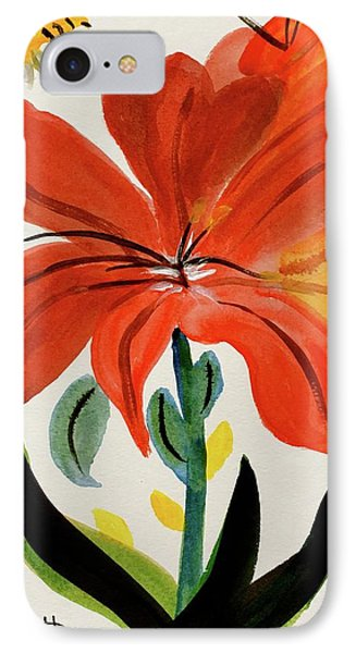 Chinese Brush Work Bee And Flower IPhone Case