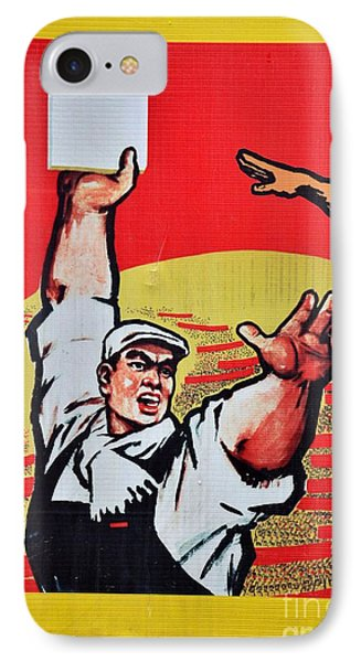 Chinese Communist Party Workers Proletariat Propaganda Poster IPhone Case by Imran Ahmed