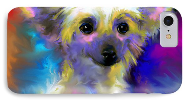 Chinese Crested Dog Puppy Painting Print IPhone Case by Svetlana Novikova