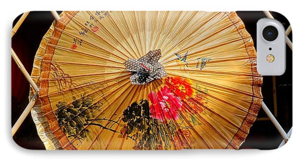 IPhone Case featuring the photograph Chinese Hand-painted Oil-paper Umbrella by Yali Shi
