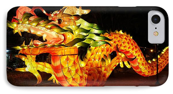 IPhone Case featuring the photograph Chinese Lantern In The Shape Of A Dragon by Yali Shi