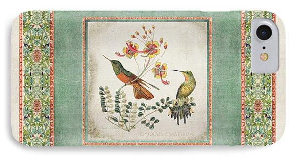 Chinoiserie Vintage Hummingbirds N Flowers 1 IPhone 7 Case
