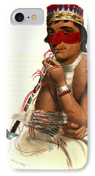 IPhone Case featuring the photograph Chippeway Chief 1836 by Padre Art