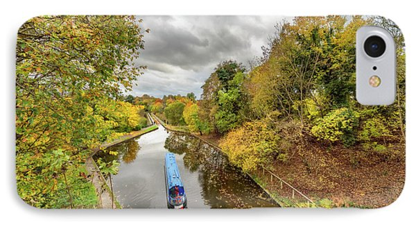 Chirk Aqueduct Autumn IPhone Case by Adrian Evans
