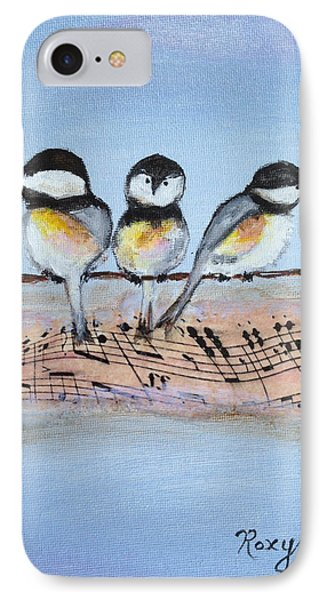 Chirpy Chickadees Phone Case by Roxy Rich