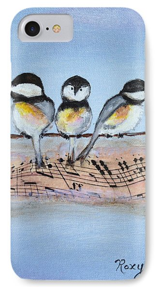 Chirpy Chickadees IPhone Case by Roxy Rich