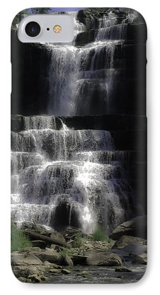Chittenango Falls Phone Case by DigiArt Diaries by Vicky B Fuller