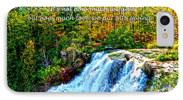 IPhone Case featuring the photograph Chittenango Falls, Ny Mother Teresa  by Diane E Berry