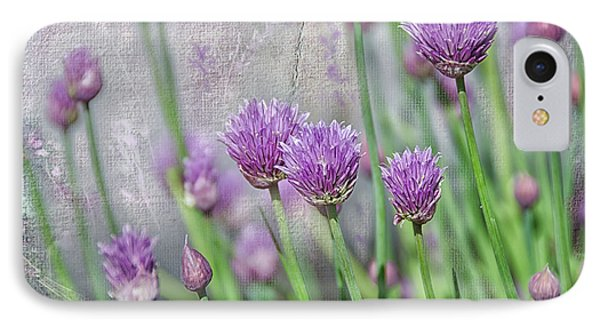 Chives In Texture IPhone Case by Debra Baldwin