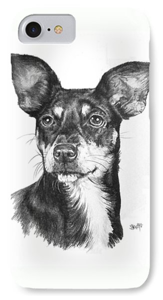 Chiweenie Phone Case by Barbara Keith