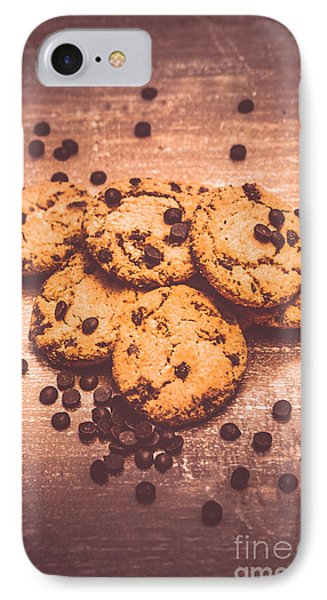 Choc Chip Biscuits IPhone Case by Jorgo Photography - Wall Art Gallery