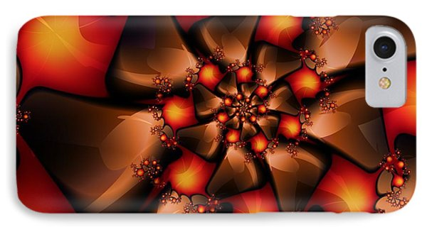 IPhone Case featuring the digital art Chocolate Berry Burst by Michelle H
