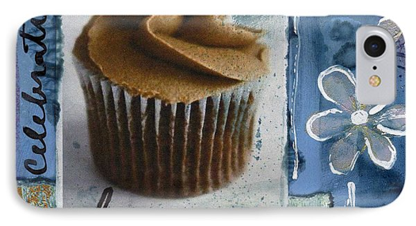 Chocolate Cupcake Love IPhone Case by Linda Woods