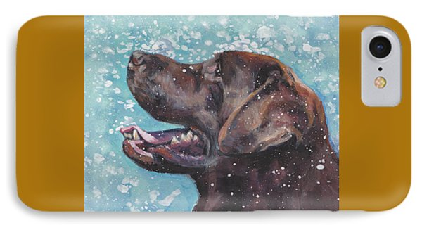 Chocolate Labrador Retriever IPhone Case by Lee Ann Shepard