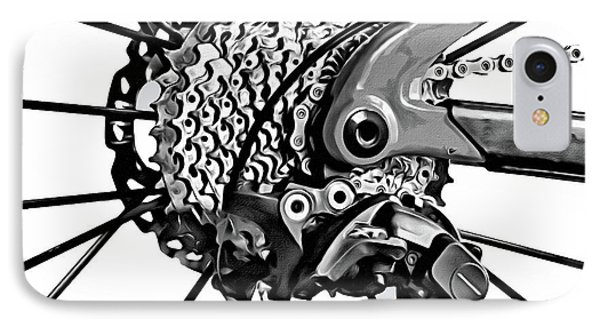 IPhone Case featuring the digital art Choice Transport 2 Bw by Wendy J St Christopher