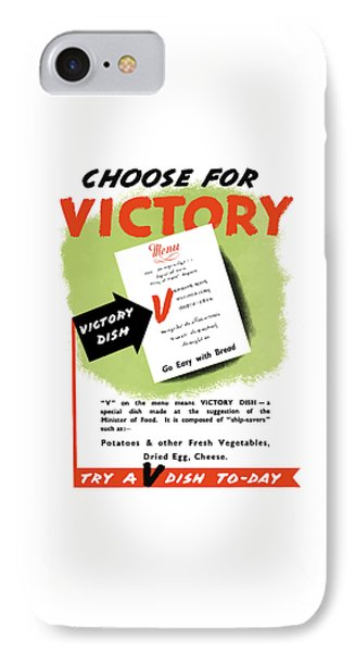 Choose For Victory -- Ww2 IPhone Case by War Is Hell Store
