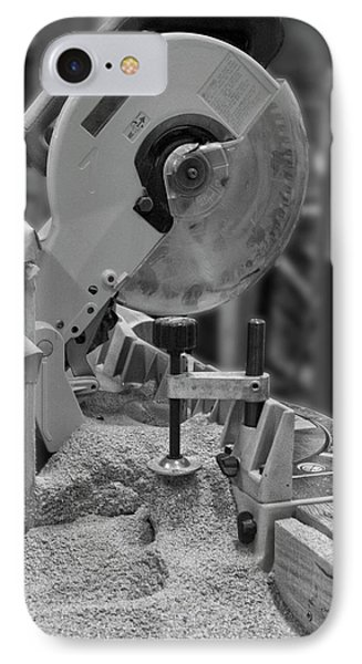 Chop Saw Bw IPhone Case by Thomas Woolworth