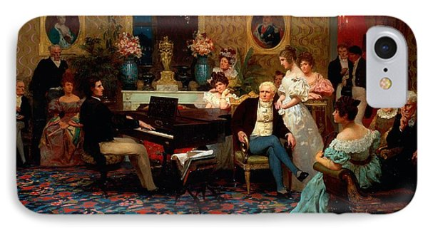Chopin Playing The Piano In Prince Radziwills Salon IPhone Case