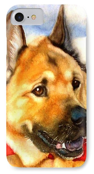 Chow Shepherd Mix IPhone Case by Marilyn Jacobson