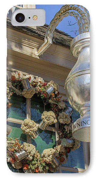Chownings Wreath 03 IPhone Case by Teresa Mucha