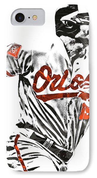Chris Davis Baltimore Orioles Pixel Art IPhone Case by Joe Hamilton
