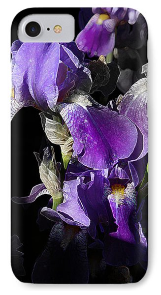 Chris' Garden - Purple Iris 1 IPhone Case by Stuart Turnbull