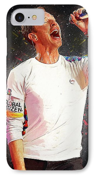 Chris Martin - Coldplay IPhone 7 Case by Semih Yurdabak