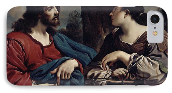 Christ And The Woman Of Samaria Phone Case by Giovanni Francesco Barbieri Guercino