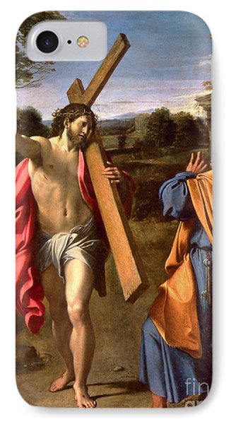Christ Appearing To St. Peter On The Appian Way Phone Case by Annibale Carracci