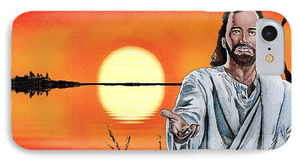Christ At Sunrise Phone Case by Bill Richards