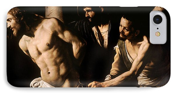 Christ At The Column IPhone Case by Caravaggio