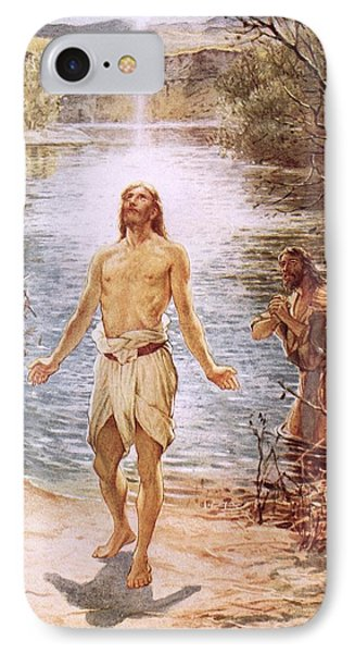 Christ Baptised By John The Baptist IPhone Case