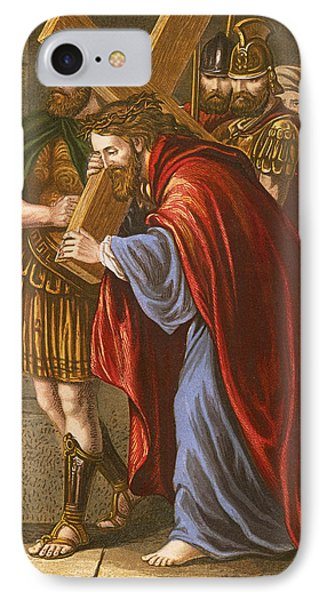 Christ Bearing The Cross IPhone Case by English School