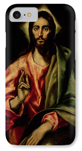 Christ Blessing IPhone Case by El Greco