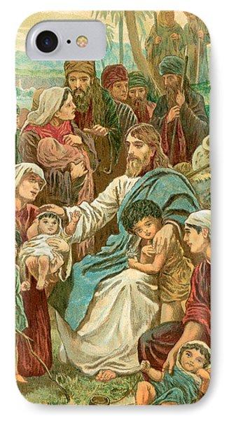 Christ Blessing Little Children IPhone Case