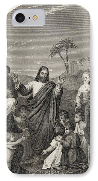 Christ Blessing The Little Children IPhone Case