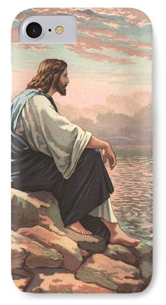 Christ By The Sea IPhone Case