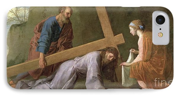 Christ Carrying The Cross IPhone Case by Eustache Le Sueur