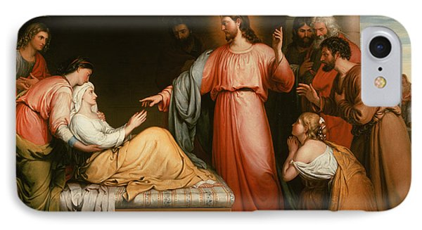 Christ Healing The Mother Of Simon Peter IPhone Case by John Bridges