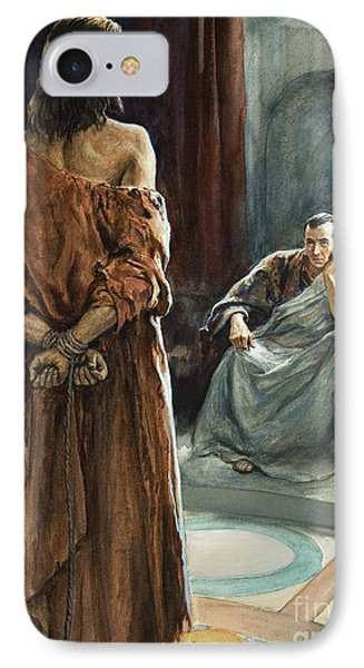 Christ In Front Of Pontius Pilate IPhone Case by Henry Coller