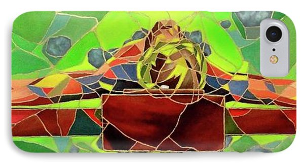 Christ In Stained Glass Phone Case by Kevin Davidson