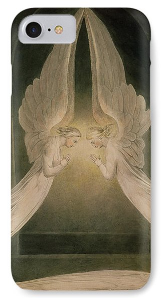 Christ In The Sepulchre Guarded By Angels IPhone Case by William Blake