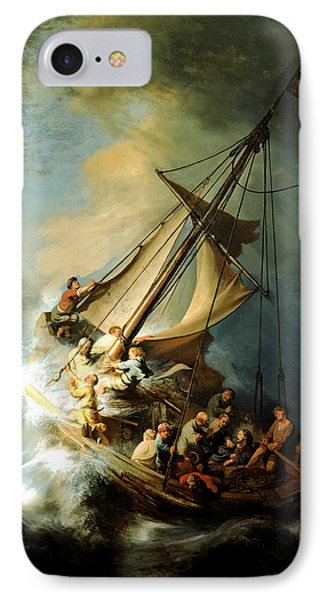 Christ In The Storm Phone Case by Rembrandt