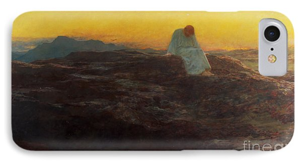 Christ In The Wilderness Phone Case by Briton Riviere